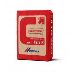 Cement portlandzki CEM I 42,5 R 25 kg, 56 szt./pal. czerwony