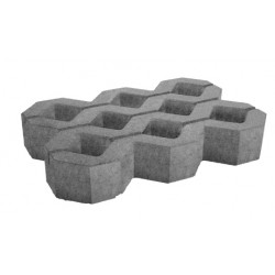 Paving concrete grid 60x40x8 cm gray