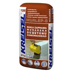 Klej do siporeksu i silikatów MURLEP128 M10, biała 25 kg