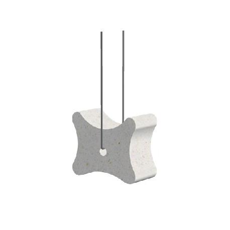 Fibre-reinforced concrete block spacer 35/40/50, with wire