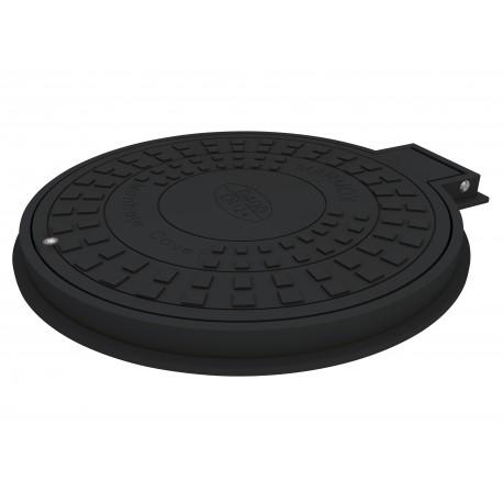 Manhole Cover+Frame DO 600, hinge & lock