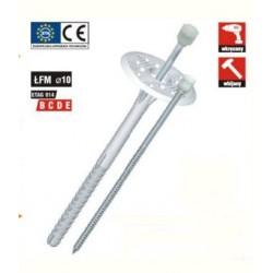 Kołek ŁFM 10x140 trzpień metalowy