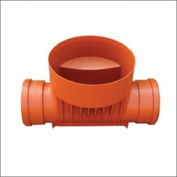 Straight Inspection Chamber Base PVC 425/200