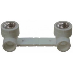 PP Wall Mount with Female Double Elbow