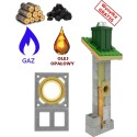Chimney system universal + Double ventilation