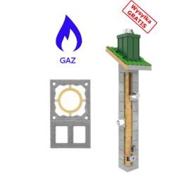 Komin gaz TURBO + 2 Wentylacje