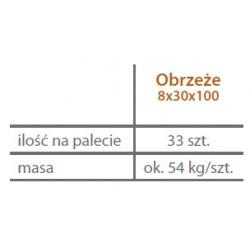 KAMAL Tiefbordstein 8x30x100 cm, grau