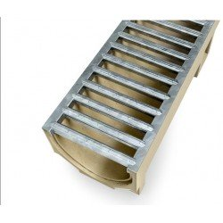 ACO SELF Euroline Channel with Galvanised Steel Grating 1 m