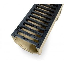 ACO SELF Euroline Channel with Cast Iron Grating 1 m