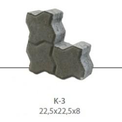 Kostka brukowa KAMAL K-3 gr. 8 cm