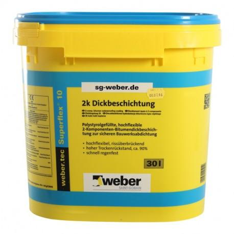 Weber.tec Superflex 10 Bitumendickbeschichtung 30L