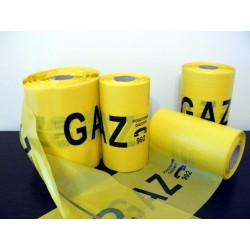 GAZ warning tape - 20 cm wide