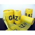 GAZ warning tape - 20 cm wide