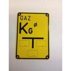 """Tabliczka oznaczeniowa GAZ """"KG"""" (kurek główny)"""