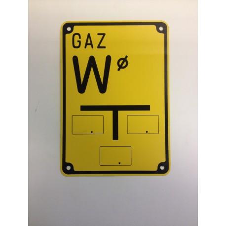 """Tablica ostrzegawcza """"GAZ W"""""""