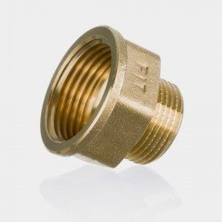 Coupling nut screwed in brass