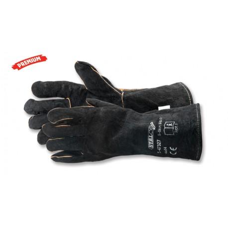 Rękawice skórzane S-Skin Black