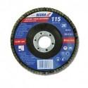 Listkowa tarcza szlifierska 125x22 mm, granulacja 120