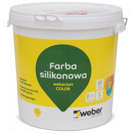 Farba silikonowa weber.ton.color 25 kg