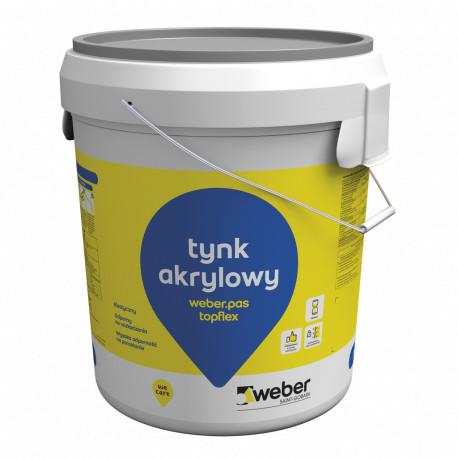 Tynk akrylowy baranek 1,5mm Weber.pas.topflex 30 kg