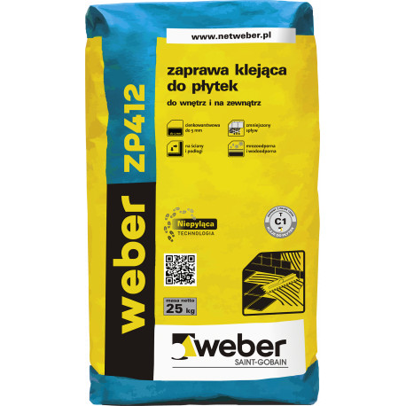Klej do płytek Weber 412 - 25 kg