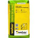 Light lime-cement plaster for indoors WEBER TP572, 25 kg