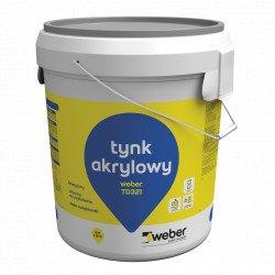 Tynk akrylowy WEBER TD321, Baranek 1,5 mm, 30 kg