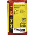 Zaprawa klejąco-szpachlowa oraz wyprawa tynkarska Weber KS143, 25 kg