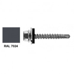 Farmer screw RAL 7024, metal sheet for 4 | 8x35 mm pack 250 pcs