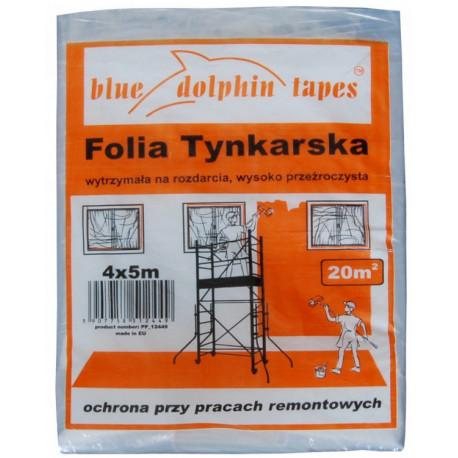 Folia tynkarska 4x5 m pomarańczowe opakowanie