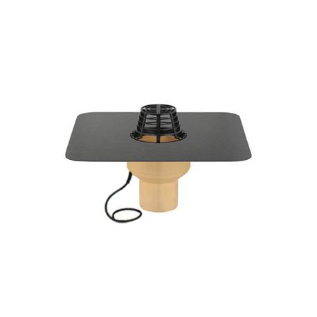 Wpust dachowy TRENDY pionowy ogrzewany 7.5 cm