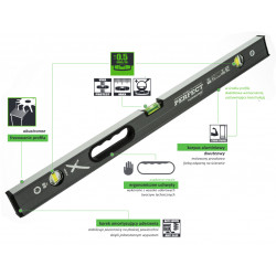 Spirit level 100 cm POWERMAX S-65787