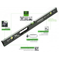 Spirit level 200 cm POWERMAX S-65793