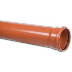 PVC Drainage Pipe 160x4,7 mm solid