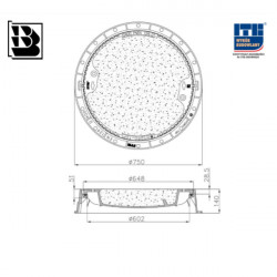 Manhole for DO 680 bet H140 DIN Hydrotop without vent