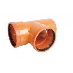 Trójnik PVC-U kanalizacyjny 110x110/87°
