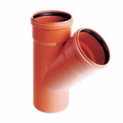 Trójnik PVC-U kanalizacyjny 160x110/45˚