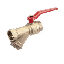 Y-Strainer Water Ball Valve ½""