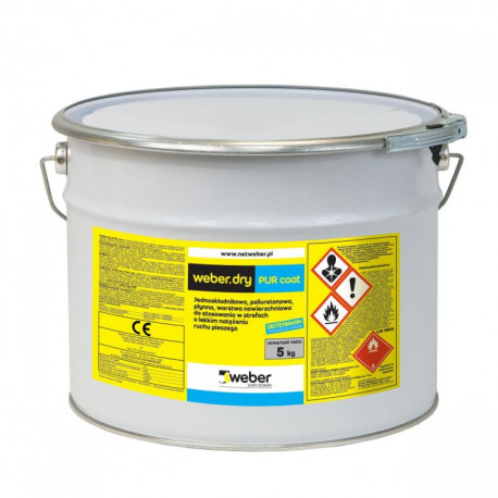 Weber.dry PUR coat transparent 5 kg