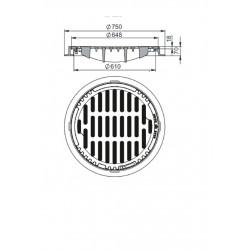 Inlet ul. DN600 B-125 round